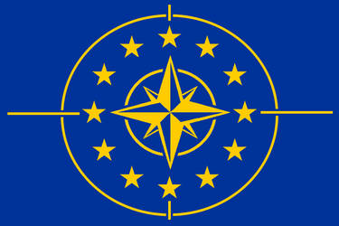 Flag of the European Defensive League Version 2 by Matthew-Travelmaster