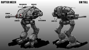 Raptor Mech Concept by Walter-NEST