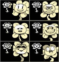 [Undertale] Flowey expression meme by EunDari