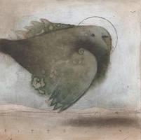 Green Bird in Flight by SethFitts