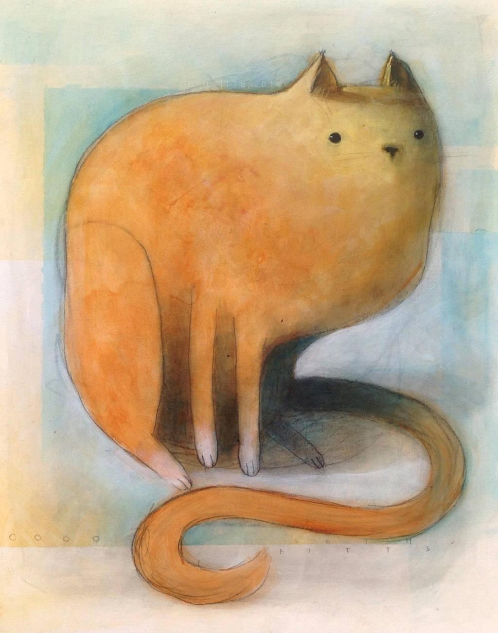 Orange Cat Sitting by SethFitts
