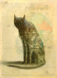 Sitting Cat (Seven-O) by SethFitts