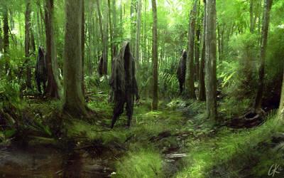 Swamp Walkers by Gillesketting
