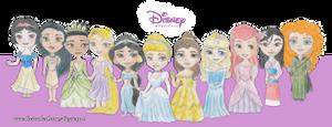 Disney Princesses by diegio1996