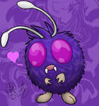 PURPLEPOOFPOMPOMBUGMONSTER by WayraHyena