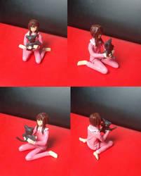 Figurine Megumin et Chomusuke by Kiitchi