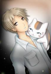 Natsume + Nyanko Sensei by Klamsi