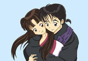 A sweet hug for Sango by Klamsi