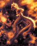 Sunset Squirrel 2 by KP-ShadowSquirrel