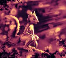 Sunset Squirrel 3 by KP-ShadowSquirrel