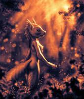 Sunset Squirrel 6 by KP-ShadowSquirrel