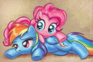 Pinkie and Dashie by KP-ShadowSquirrel