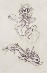 More Sea Ponies by KP-ShadowSquirrel