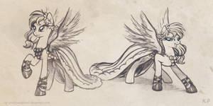 Rainbow Dash Gala Dress Sketches by KP-ShadowSquirrel