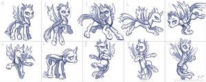 Changeling Sketches by KP-ShadowSquirrel