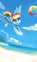 Playing Beach Ball by KP-ShadowSquirrel