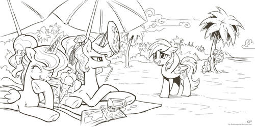 Nice catch! (lineart) by KP-ShadowSquirrel