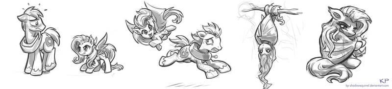 Flutterbat Sketches #1 by KP-ShadowSquirrel