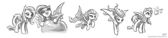 Flutterbat Sketches #2 by KP-ShadowSquirrel