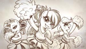 Cheering Three by KP-ShadowSquirrel