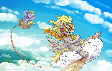 Those Magnificent Mares In Their Flying Machines by KP-ShadowSquirrel