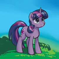 Speedpaint 01 - Twilight by KP-ShadowSquirrel