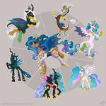 Celestia Chrysalis Discord Fusion by KP-ShadowSquirrel