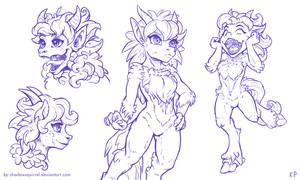 Satyr Drawings 1 by KP-ShadowSquirrel