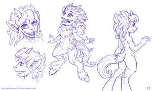 Satyr Drawings 7 by KP-ShadowSquirrel
