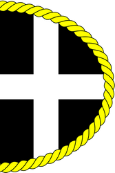 Pasty-Shaped Flag of Cornwall for St Piran's Day by Wolf-ODonnell