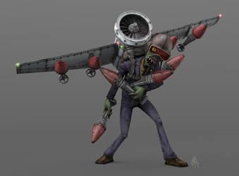 ZBomber Character Render by hsholderiii