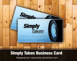 SimplyTaken Business Card by maoractive
