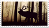Deer in the forest - stamp by Martith
