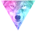 Triangle decor - Galaxy wolf by Martith