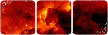 Red galaxy deco divider by Martith