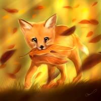 Cute leafy thief by Martith
