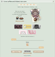 I love coffee and kittens   F2U non-core by Martith