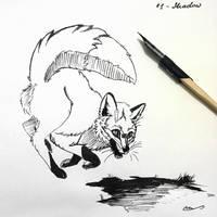 Foxtober - #1 Fearful by Martith