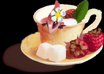Strawberry tea by Martith