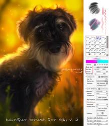 Hair/fur brush for SAI v2 by Martith