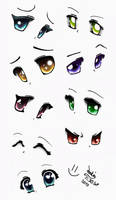 Anime eyes by Joakaha
