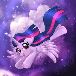 MLP FIM - Princess Twilight Sparkle Flying by Joakaha