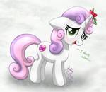 MLP FIM - Sweetie Belle Mistletoe by Joakaha