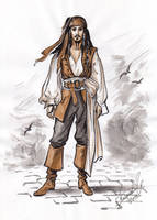Captain Jack Sparrow sketch. by Bormoglot