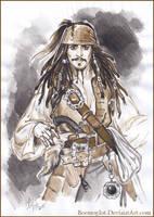 Captain Jack Sparrow. Sketch. by Bormoglot