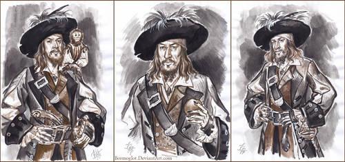 Captain Hector Barbossa, sketch. by Bormoglot