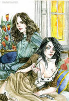 Joan and Seana by MarieFriedrich