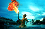 Dancing Fire by humblefisherman