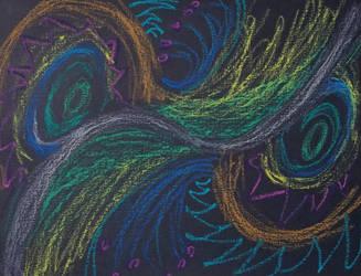 Oil pastel doodles by Bluecrest-Rubenaris