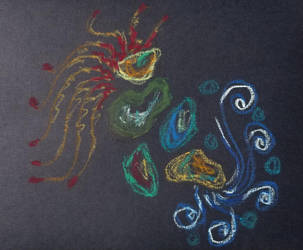 Oil pastel - doodles by Bluecrest-Rubenaris